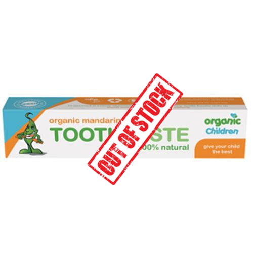TOOTHPASTE WITH ORGANIC TANGERINE