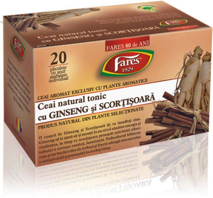 Tonic Tea with Ginseng and Cinnamon